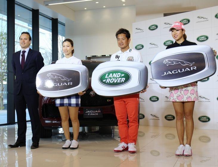 藤田寛之プロがランドローバーの、木戸愛プロがジャガーのアンバサダーに就任いたしました。